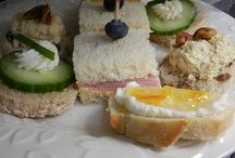 Tea Sandwiches / Tea sandwiches are fun to make and easy to vary.  Here are some examples.