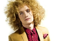 Mens hair styling and modern suits / Chris Read created this collection for Hobbs. With photography by Adam Streames