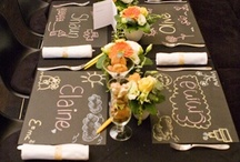 ★ E C O L I E R / School Wedding * Chalkboard