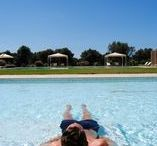 "Swimming Pool at Masseria Corda di Lana / You need to pull the plug? Nothing better than a swim in the pool with Jacuzzi and be lulled by the ""waves"" or take a swim in the hot type half Olympic size.."