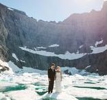 Elopement Inspiration / Elopements are a beautifully romantic way to keep your special day simple but still meaningful. There's no better place to elope than an incredibly scenic place like Glacier National Park. Grab some inspiration from our board and if you're looking for a place to stay check out our website. http://glacieroutdoorweddings.com/
