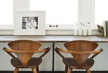 ☰ OFFICE ☰ / Home office. Desk. Office. Small office. Office inspiration. Library. Office furniture. / by GENEVIEVE MARTIN