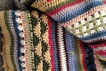 Crochet afghans: Mixed stitches & rows / Mixed stitch striped afghans, blankets and throws