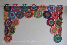 Crochet curtain & valance ideas