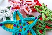 Crochet Christmas decorations / About wrapping up, making gifts & making them look pretty