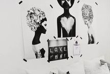 Interior ideas / I love black. And white. And the combination of black and white. But more I love black.