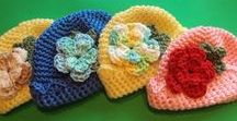 Crochet beanies / Beanies with flowers etc. for women or girls