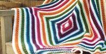 Crochet afghans: Big blocks / Stripes, big blocks, etc.