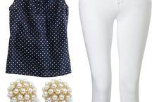 Outfit pantalones blancos