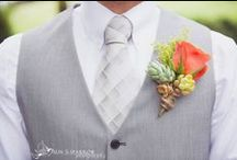 Boutonnieres / Have your man and his men looking outstanding with some of these ideas for boutonnieres!