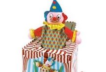 Jack in a Box Toy / Collectors and kids love a Jack in a Box Toy with clowns, monkeys, animals nursery rhymes as themes that will bring back childhood memories.