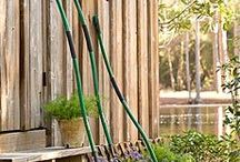 Long Handled Gardening Tools / Long handled gardening tools for planting, digging, weeding, working the soil reducing your need to bend over.