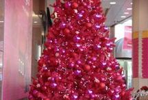 Hot Pink Christmas Tree / Consider a Hot Pink Christmas Tree that will stand out and be fun to decorate this year. Your Christmas Tree is certain to receive a lot of compliments.
