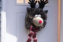 Rudolph the Red Nosed Reindeer Decorations / Rudolph the Red Nosed Reindeer Decorations including Christmas tree ornaments,front door wreaths, giant inflatables and more. Rudolph is one of the most popular seasonal stories and is easy to include in any Christmas display.