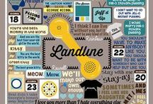 LANDLINE FAN ART!! / Fan art and excellence related to the book Landline by me, Rainbow Rowell.