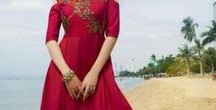 Indowestern Outfits / gowns, fusion indian wear, wedding cocktail outfits, floor length dress