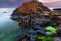 Scotland and Ireland / Bonny wee Scotland and charming Ireland Both places have arresting landscapes and sometimes brooding atmospheric shots.  Pin photos of your breaks or your wishful breaks to these places and we will pin our favorites and our up and coming trips...