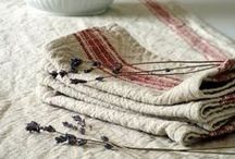 Linen, towels, household textil / Love of natural textil araund the house - I have a beautiful collection of my own...