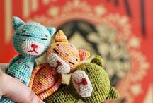 Crochet toys for the heart