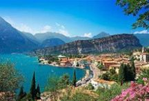 Lake Garda / The beautiful Lake Garda  'How much I wished to have my friends near me in order that they might rejoice over the view which lies before me... The shore, enclosed on both sides by hills and mountains, shines with countless villages...'