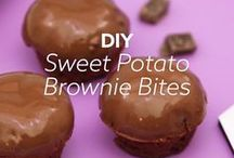 Healthier Desserts using Sweet Potatoes / We already know that sweet potatoes are good for you, and these healthier dessert recipes incorporate the sweet potato without all the extra sugar!