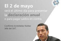 Declaración anual para personas físicas / Deberá presentarse a más tardar el 2 de mayo de 2016