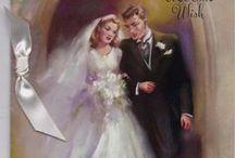 Quadres i dibuixos de casaments / Dibuixos encantadors de noces