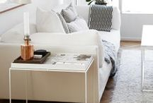 Decorating with White by Benjamin Rugs & Furniture / Bring a light, airy feeling to your space with white.