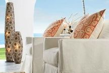 Coastal Decor by Benjamin Rugs and Furniture / Coastal decor can be enjoyed outdoors as well as indoors.  By merely adding some accessories this look can be achieved.