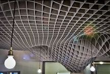 Creative Acoustics in Environments / Unique ceilings, canopies, partitions, walls and furniture that absorb acoustical noise and deaden sound.