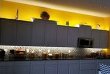 DIY Project using NU LED Products / VIVID lighting above and below cabinet lighting and Hutch. Using Wireless  QUATTRO 4 ZONE LED CONTROL.