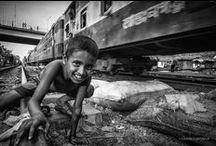 "Marco Boria 2 / Photographer / Reportage  ""live on the train line 12 - photojournalist #climate change #slum #Bangladesh #life #reportage #projects"