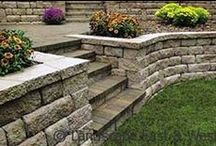 Retaining Wall Design / Retaining walls can level a sloped yard, create gardening beds, prevent soil erosion & allow for more usable space. View our custom retaining wall designs for Portland landscaping.