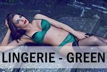 Lingerie - Green / Green isn't a colour that everyone can pull off, especially when buying lingerie! Browse our green lingerie board for great ideas on how to look gorgeous in green lingerie! #sexy #lingerie #underwear #nightwear #dearsweetness