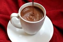 Chocolate Drinks xo / Hot chocolate in a mug, maybe with a little marshmallow or a meringue on top. Keva xo.
