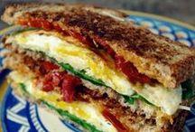 Breakfast > Sandwiches xo / Eating your breakfast in one fell swoop. Keva xo.