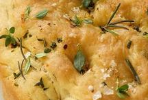 Bread > Focaccia xo / Lots of variety of focaccia here. A popular, easy homemade type of flat Italian bread made with yeast and olive oil and flavoured with seasoning's and herbs. Keva xo