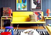 Rooms that POP with ART! / We LOVE POP art and Big SPLASHES of color. Here is a collection of rooms and interiors that we can't stop looking at! / by Matthew Lew Shop