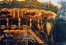 Carousels > Merry-Go-Rounds xo / Wonderful merry-go-rounds a very early style of technology dating back to the 19th century & beyond. Memories of children's happiness & laughter & if you were lucky enough, you've got photographs of that special time. Keva xo.