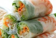 Asian > Spring & Egg Rolls > Sushi > Appetisers xo / All types of appetisers that includes an array of sushi recipes, rice paper spring rolls, crispy spring rolls & crispy egg rolls, Vietnamese chicken balls, fabulous Asian pancakes & more. Check this board and my other Asian boards out for a wonderful variety of oriental food. Keva xo.