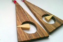 Wooden earrings / My handmade wooden earrings