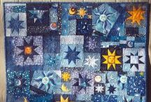 Stars and Moon Quilt (Liam's Quilt) / Designed and quilted by me!