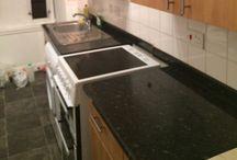 Kitchen / Green and pinck