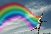 Rainbows and Auroras