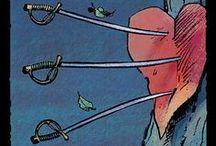 Мечи Таро. Swords Tarot / Младшие арканы и придворные карты. Масть Мечей.
