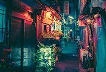 Japan <3 / Japan city lights and landscape