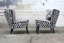Le Fauteuil Cocktail / Les fauteuils cocktail sont une des plus belles inventions des années 50. Design arrondi, pieds-compas, dossier clouté et coloris francs, retrouvez-les dès à présent sur lesvieilleschoses.com !