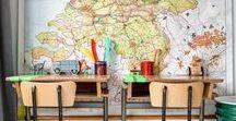 Affiches & Cartes Scolaires Vintage / Mappemondes, planisphères, affiches et autres cartes de géographie. Toutes les cartes que l'on peut accrocher sur un mur se trouvent ici !