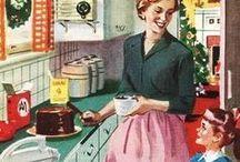 Cuisine Vintage / Si une cuisine se doit d'être fonctionnelle, elle se doit aussi d'être accueillante et chaleureuse !  Pour vous, lesvieilleschoses.com a donc sélectionné ses plus beaux objets déco essentiels à toute cuisine vintage !
