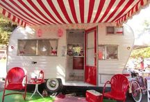 Vintage Travel Glamper Style / Small vintage travel trailers, original and rehabbed interiors. Ideas to refurbish and repair.  / by Janet Short